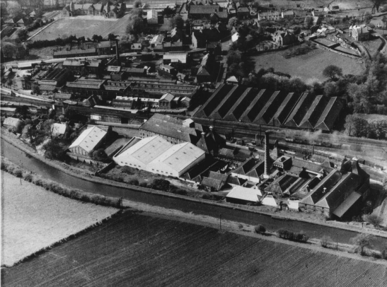 Old Aerial Picture of St. Magdalene Distillery Photo Credit: Diageo