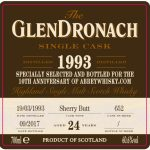 GlenDronach 1993, 24 Year Old for Abbey Whisky (60.6%)