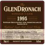 GlenDronach 18 1995 cask 1732 for premiumcask.de (54.6%)