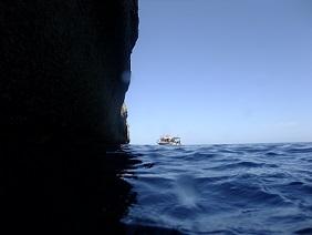 Cliffs at Forna Point Malta Dive site