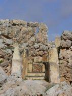 Ġgantija: az északi templom folyosója