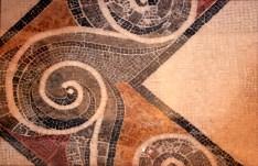 Mozaik részlete a Domus Romana múzeumból