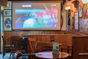 Malt Shovel Tavern Northampton - photo of big screen