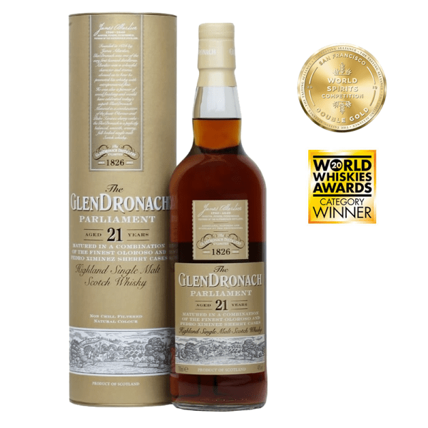 Bottle_The Glendronach Parliament 21 Years Tube_Awards