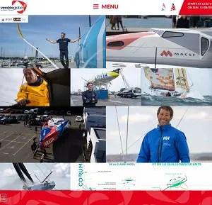 Vendée Globe homepage