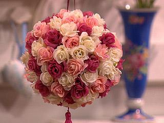 mbile de flores mbile de rosas topiaria  malu artesanato