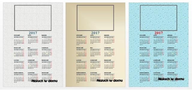 Kalendarze z miejscem na zdjęcie