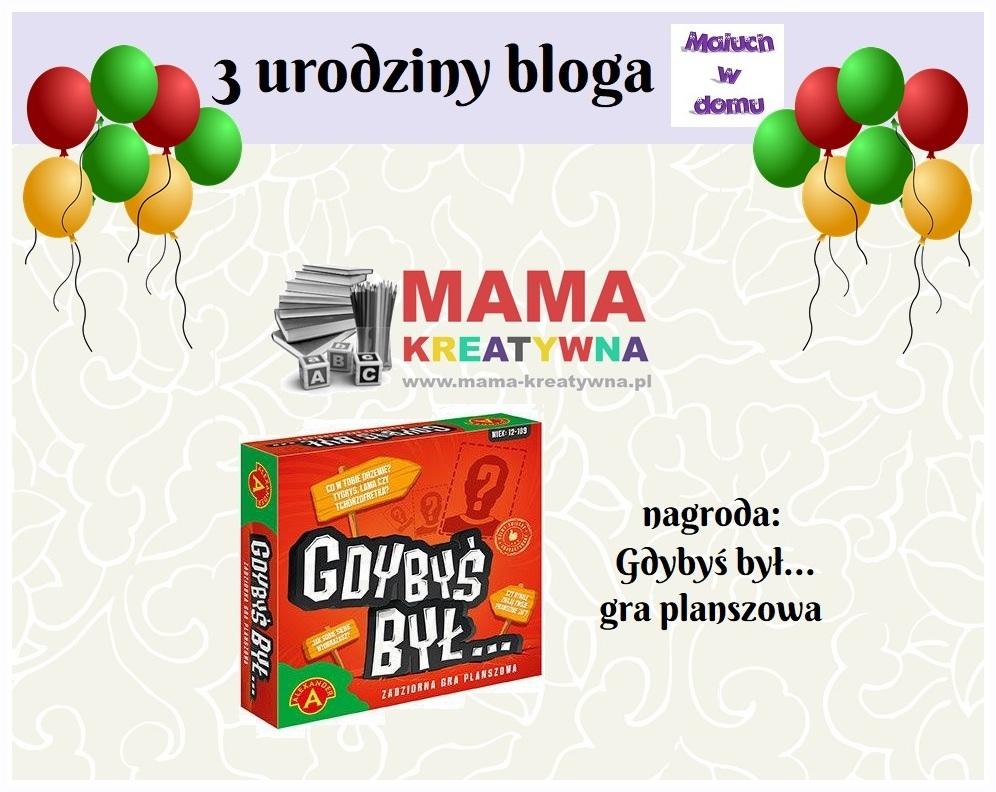 Trzecie urodziny bloga Maluch w domu