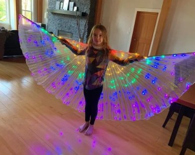 L***t review of Rainbow Wings - LED Butterfly Costume