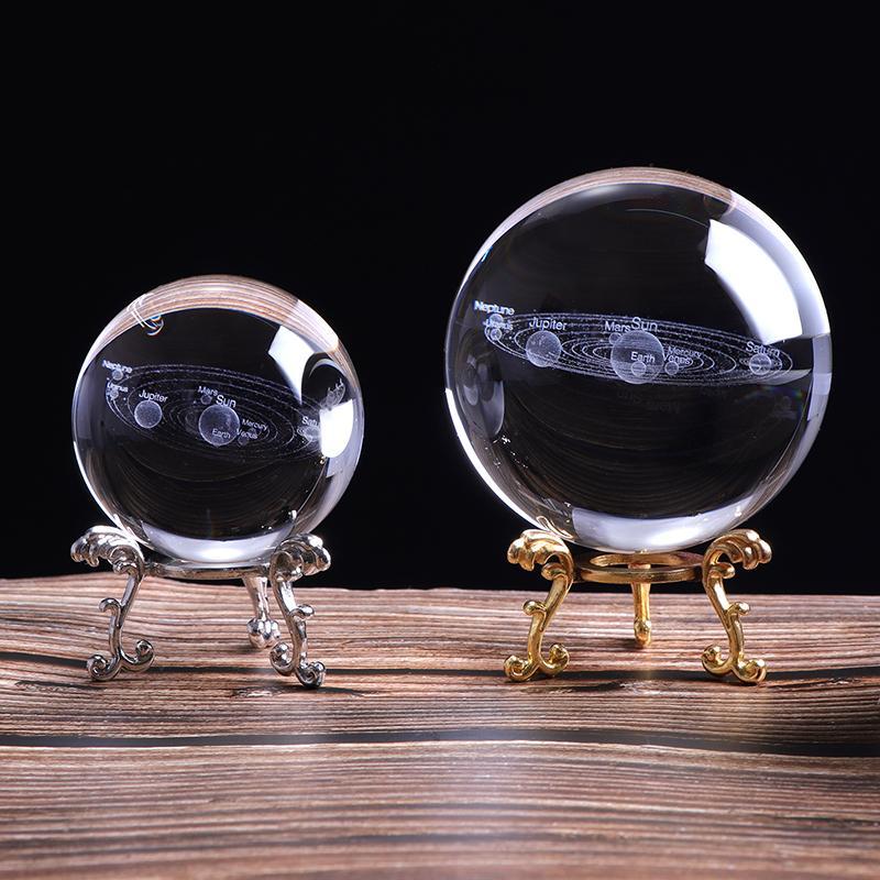 Bola De Cristal Com Sistema Solar