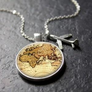 Colar Mapa do Mundo