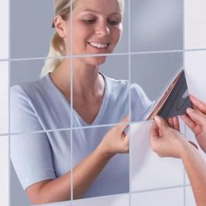 Espelho Adesivo De Parede (16 Peças)