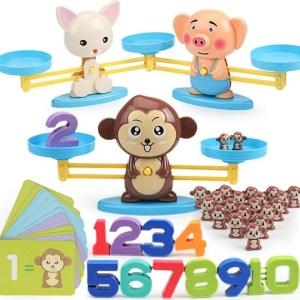 Balance Monkey - Brinquedo Educacional de Matemática