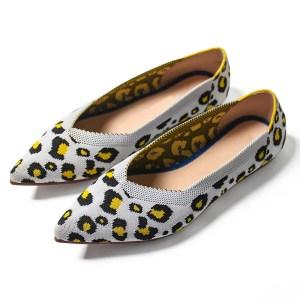 Suojialun sapatos femininos, sapatos baixos para mulheres, estampa de oncinha, sapatos casuais, boca rasa, 2019