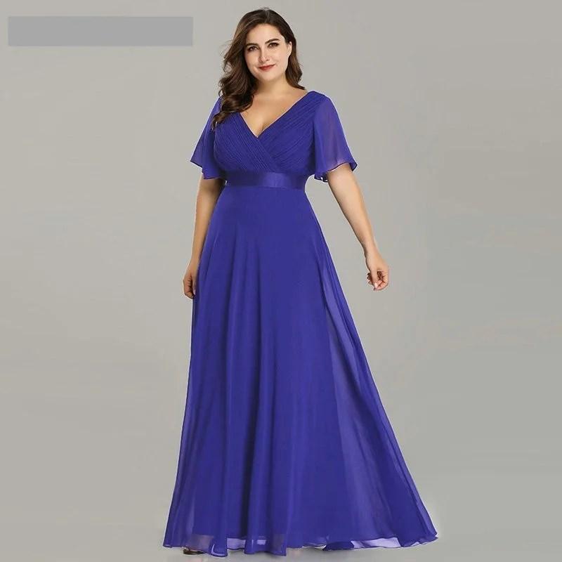 Vestido Longo Poá - Roxo - Tamanho 50