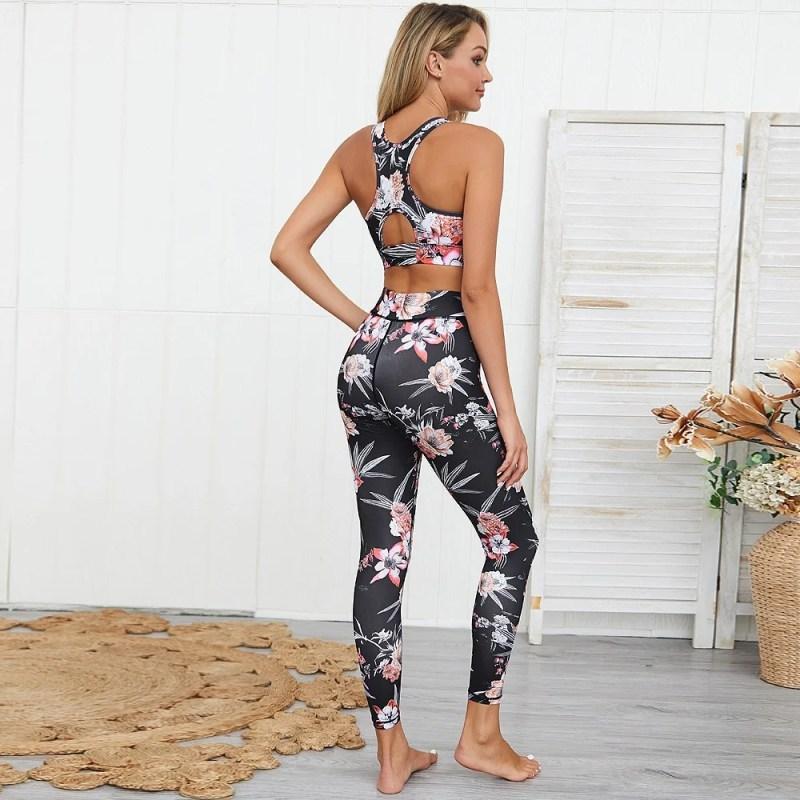 Legging e Top - Estampa Floral - M
