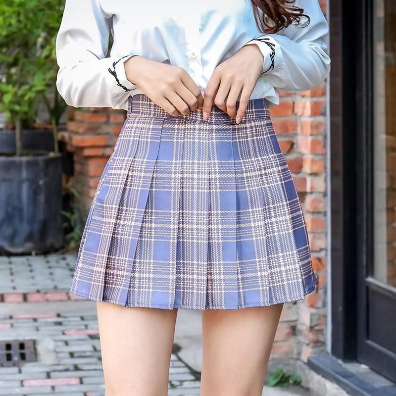 Mini Saia Cintura Alta Estudante - Rosa - M