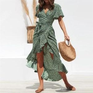Vestido Floral - Verde - M