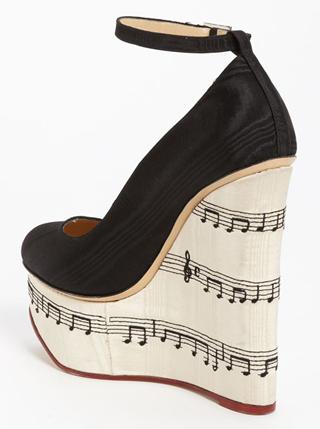 Calçados com Musical Print