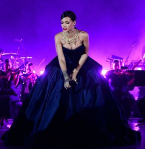 Rihanna performs live at The Clara Lionel Foundation Presents The Inaugural Diamond Ball