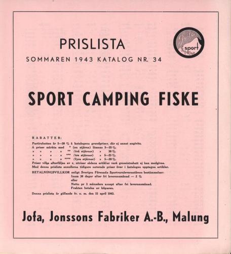 JOFA_Huvudkatalog 1943 prislista 0605