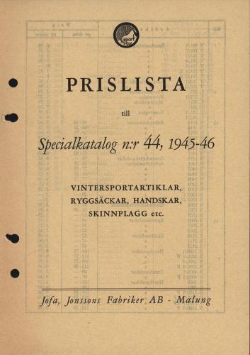 JOFA_Huvudkatalog 1945 prislista 0621