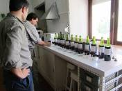 Charles begins to review each wine individually - swirl, assess colour, sniff