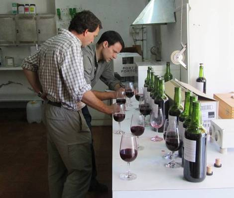 Final decisions taken, Paulo makes his notes of which wines to combine, so the winery team can attend to it today.