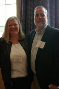 Sandra Burk and Tim Daciuk of the planning committee for the event