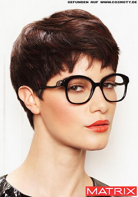 Kurzhaarfrisuren damen brillentrger
