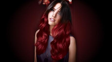 Rote haarspitzen