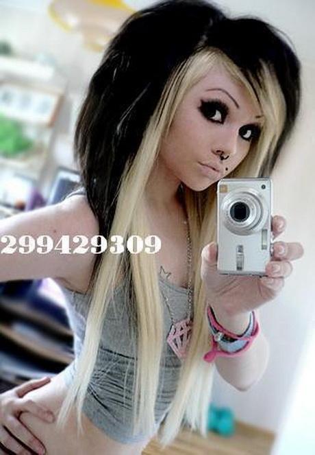 Schwarz blonde haare