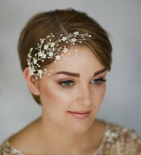 Brautfrisuren kurze haare 2018
