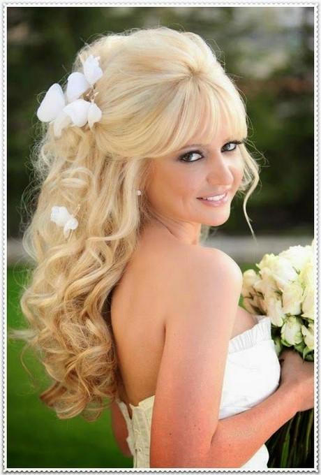 Hochzeitsfrisuren lange haare offen mit schleier