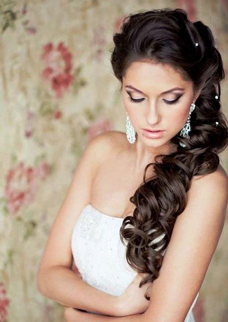 Brautfrisuren lange haare offen locken