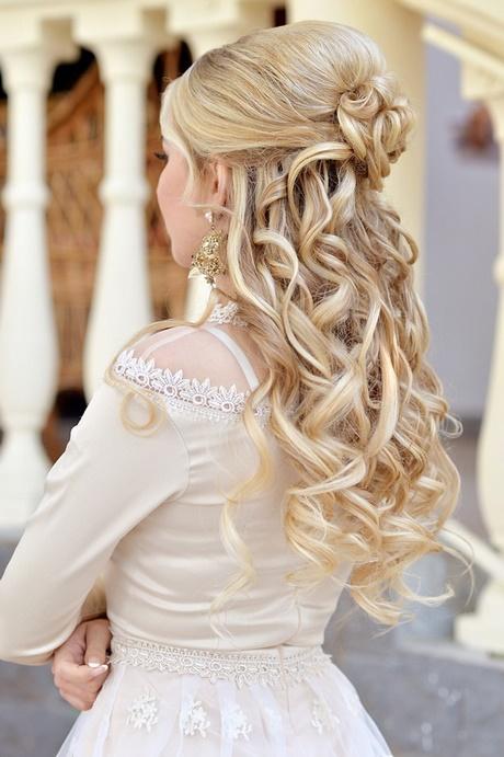 Frisur mit schleier lange haare