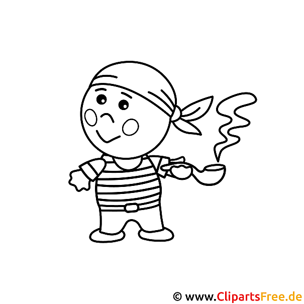 Malvorlage Pirat