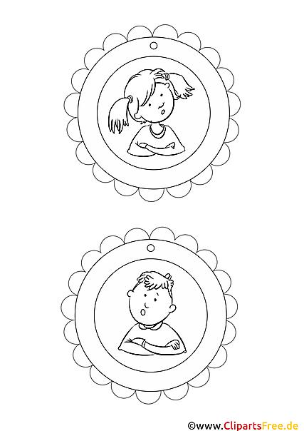 Medaille Vorlagen für Kinder