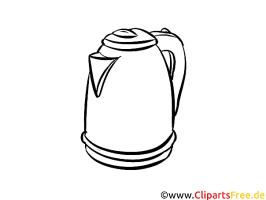 Kaffeekanne zum Malen Vorlage