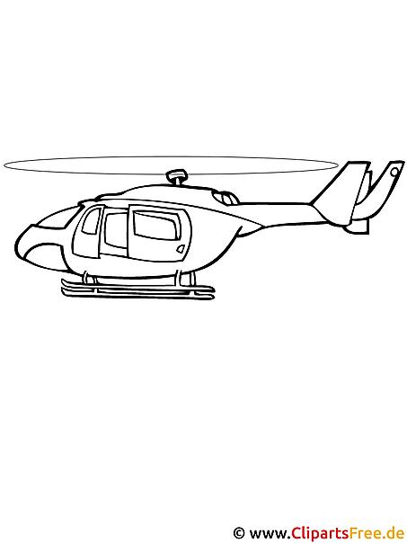 Hubschrauber Malvorlage