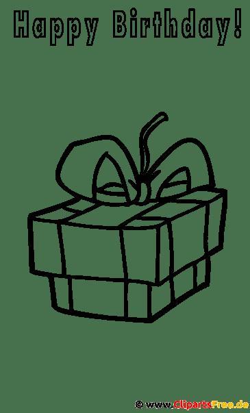 Geschenk zum Geburtstag Malvorlage gratis
