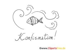 Konfirmation Ausmalbild Welle Fische
