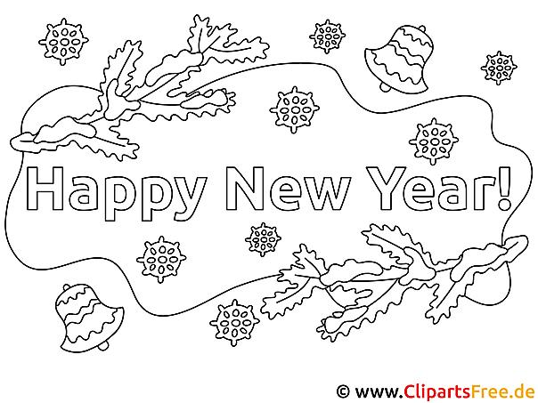 Malvorlagen Silvester Neujahr