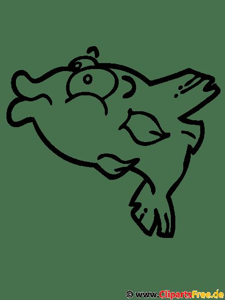 Fisch Malvorlage gratis
