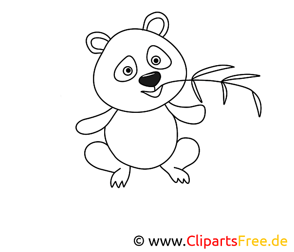 Panda Malvorlage umsonst
