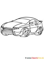 Sportwagen Ausmalbild   Autos Malvorlagen
