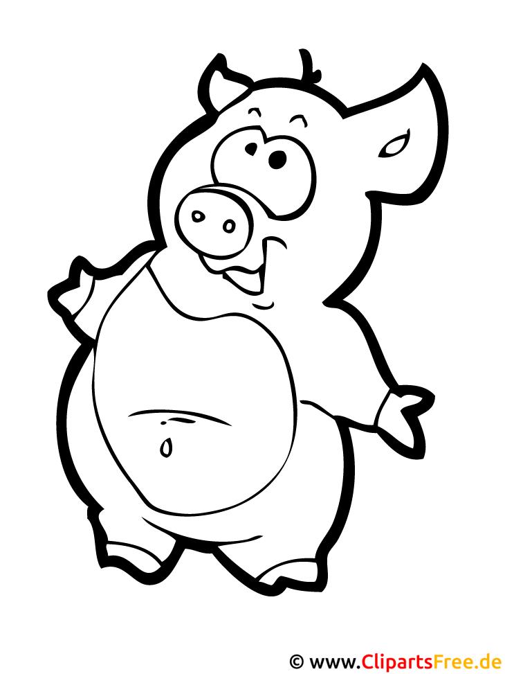 Schwein Ausmalbild Bauernhof