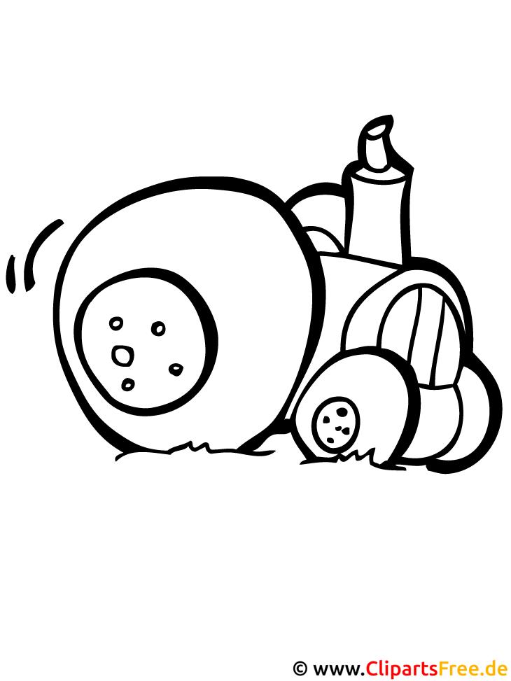 Traktor Malvorlage Bauernhof