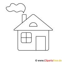 Haus Malvorlage