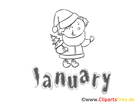 Januar   Months of the Year Coloring Pages